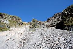 火山的教育-岩石 免版税图库摄影