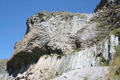 火山的教育-岩石 免版税库存照片