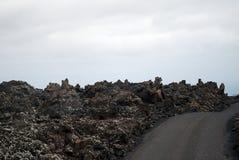 火山的横向 库存照片