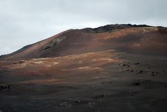 火山的横向 免版税库存图片