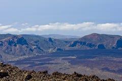 火山的横向 免版税库存照片