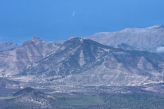 火山的横向 库存图片