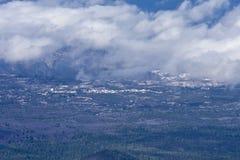 火山的横向 图库摄影
