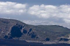 火山的横向 免版税图库摄影