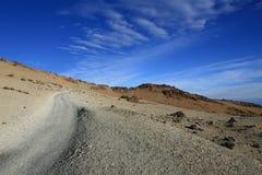 火山的沙漠 库存图片