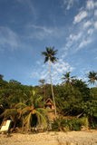 火山的海岛 免版税库存图片