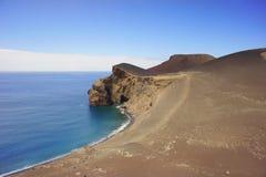 火山的海岸 库存图片