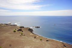 火山的海岸 免版税库存照片