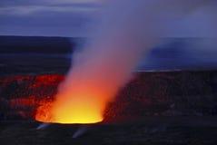 火山的火山口在夏威夷的大岛 免版税图库摄影