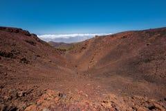 火山的火山口翼果山在teide国家公园,特内里费岛 免版税库存图片