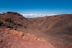 火山的火山口翼果山在teide国家公园,特内里费岛 图库摄影