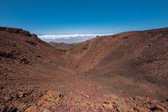 火山的火山口翼果山在teide国家公园,特内里费岛 库存图片