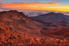 火山的火山口 图库摄影