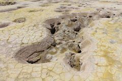 火山的熔岩水池 免版税库存图片