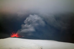 火山的爆发 库存图片