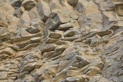 火山的玄武岩石头 免版税图库摄影