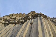 火山的玄武岩石头 库存照片