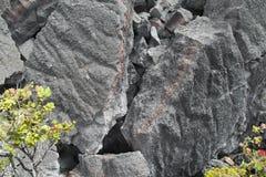 火山的石头关闭,大岛,夏威夷 库存照片