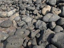 火山的石头用不同的大小 库存图片