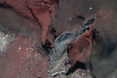 火山的红色火山口 Tongariro横穿 库存照片