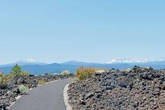 火山的风景俄勒冈 免版税库存图片