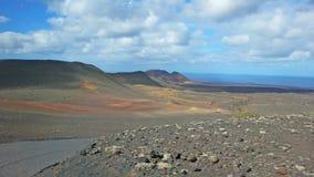 火山的风景在加那利群岛 免版税库存照片