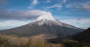 火山的风景时间间隔新西兰北岛 股票录像