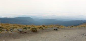 火山的风景顶视图 免版税库存照片