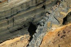 火山的风景, Caldeira在拉帕尔马岛海岛北部的de Taburiente,加那利群岛(西班牙)。 免版税库存图片