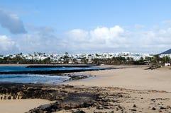 火山的风景-兰萨罗特岛, Canarian海岛 免版税库存图片