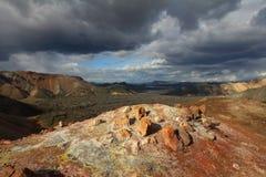 火山的风景 免版税库存照片
