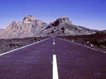 火山的高速公路 免版税图库摄影