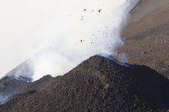火山的活动 免版税库存图片