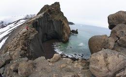 火山的破火山口-欺骗海岛-南极洲 免版税库存图片