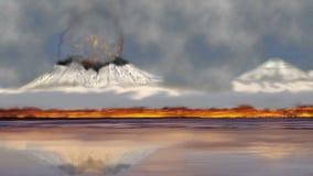 火山自然火山口 向量例证