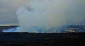 火山蒸汽 库存照片