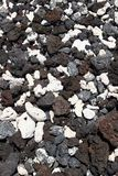 火山被分类的岩石 免版税库存照片