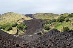 火山道路 库存图片