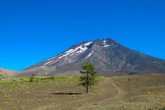火山隆基迈火山在智利 图库摄影