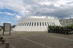 火山,文化房子  免版税库存照片