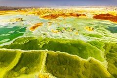 火山Dallol,埃塞俄比亚 图库摄影