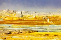 火山Dallol,埃塞俄比亚 库存图片