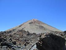 火山el泰德峰,特内里费岛的峰顶 免版税库存照片