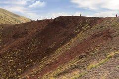 火山etna火山口卡塔尼亚意大利 库存照片