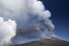 火山Etna爆发 图库摄影
