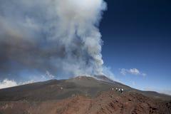 火山Etna爆发 库存照片