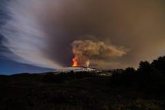火山Etna爆发 库存图片