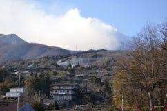 火山Etna的全景 库存图片
