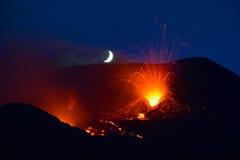 火山Etna,西西里岛,意大利2014年 免版税库存图片