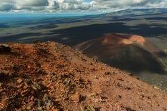 火山Gorshkov -北部突破巨大扎尔巴奇克火山裂痕爆发第一个炭渣锥体1975年 免版税库存照片